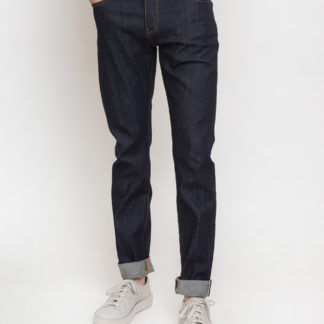 Knowledge Cotton Ash Tapered Slim Raw Blue Stretched Selvedge Denim 3039 Blue Raw W33/L34 - Biorre.cz - udržitelný nákup