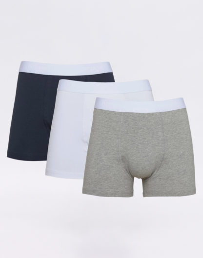 Knowledge Cotton Maple 3 Pack Underwear 1012 Grey Melange XL - Biorre.cz - udržitelný nákup