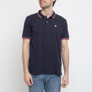 Knowledge Cotton Rowan Edge Colored Owl Polo 1001 Total Eclipse XL - Biorre.cz - udržitelný nákup