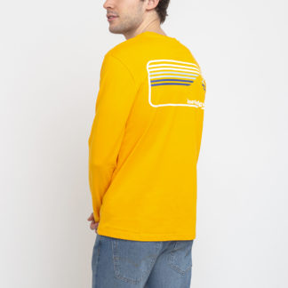 Knowledge Cotton Sallow Signature Wave Long Sleeve 1306 Zennia Yellow XL - Biorre.cz - udržitelný nákup