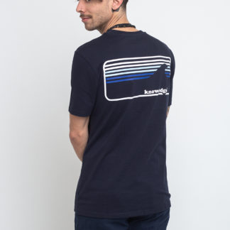 Knowledge Cotton Signature Wave Tee 1001 Total Eclipse XL - Biorre.cz - udržitelný nákup