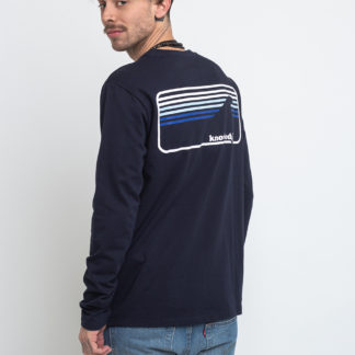 Knowledge Cotton Sallow Signature Wave Long Sleeve 1001 Total Eclipse XL - Biorre.cz - udržitelný nákup