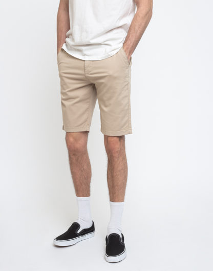 Knowledge Cotton Chuck Regular Chino Shorts 1228 Light Feather Gray 36 - Biorre.cz - udržitelný nákup